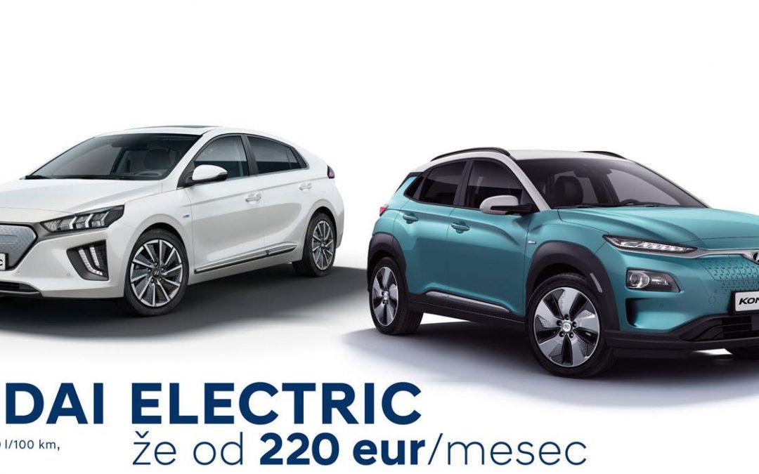 Hyundai Kona in Ioniq že od 220 €/mesec!